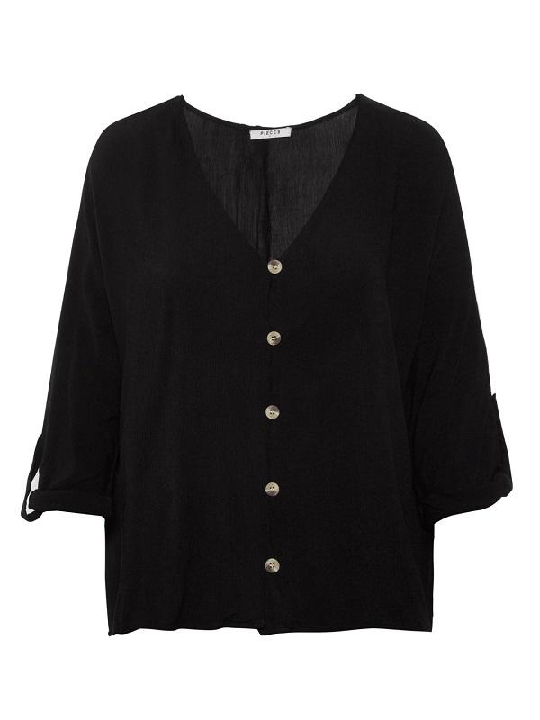 Musta napitettu paita - PCSANNE