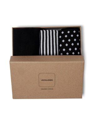 3 kpl sukkia lahjapaketissa - JACORGANIC SOCKS