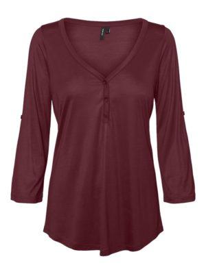 Viininpunainen napillinen paita - VMNINA
