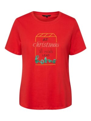 Punainen jouluinen t-paita - VMXMAS MAGIC OLLY