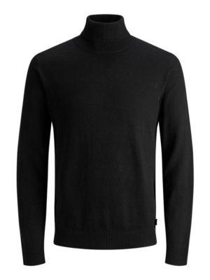 Musta poolokauluksinen neulepaita - JJEEMIL