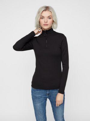 Musta poolokauluksinen paita - NMROX