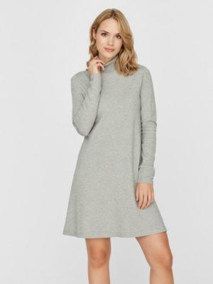 Harmaa poolokauluksinen mekko - VMHAPPY DRESS