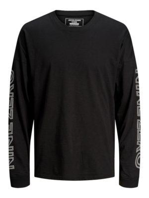 Musta pitkähihainen paita - JCODOBBY TEE