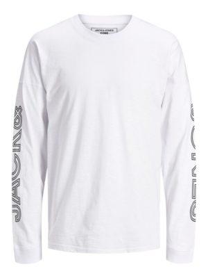 Valkoinen pitkähihainen paita - JCODOBBY TEE