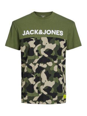 Armeijakuvioinen t-paita - JCOLUDO TEE