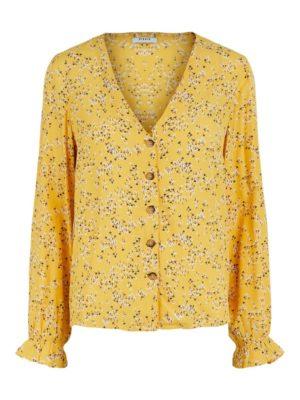 Keltainen kukkakuosinen paita - PCLANNI