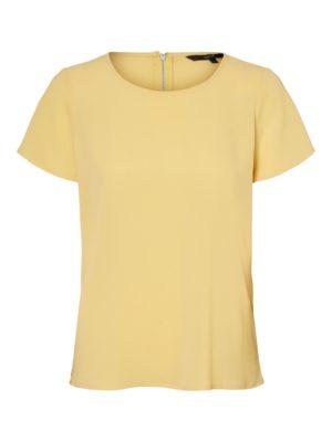 Keltainen t-paita - VMSASHA ZIP TOP