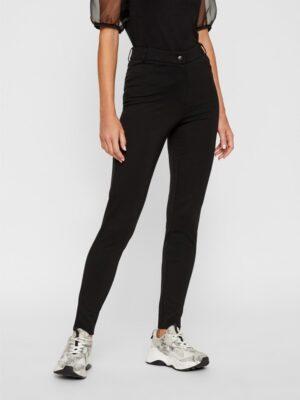 Mustat korkeavyötäröiset leggingsit - PCKLARA