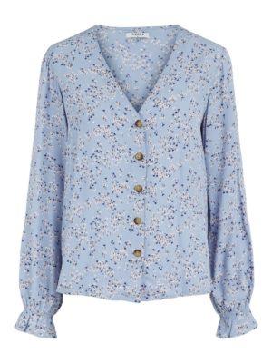 Sininen kukkakuosinen paita - PCLANNI