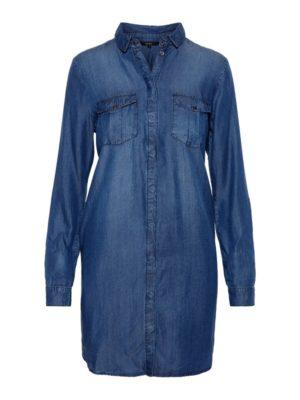 Sininen pitkähihainen mekko - VMSILLA