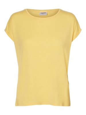 Vaaleankeltainen rento t-paita - VMAVA PLAIN