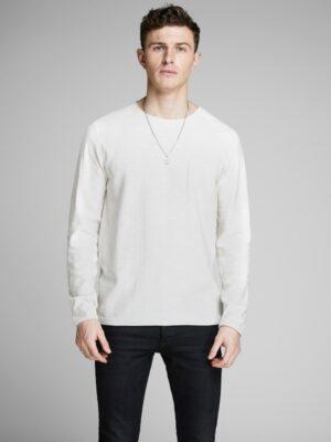 Valkoinen neulepaita - JJESLUB KNIT