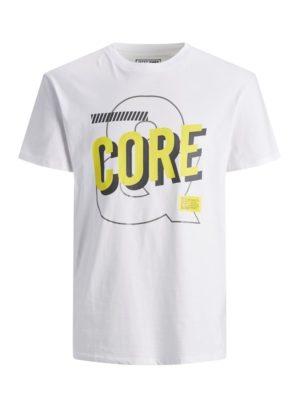 Valkoinen t-paita printillä - JCOBEB TEE
