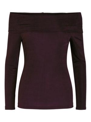 Viininpunainen off shoulder -paita - PCMULA