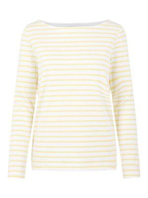Keltavalkoraidallinen paita - PCINGRID TOP