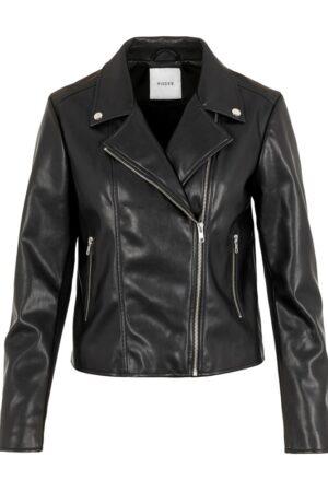 Musta biker-mallinen takki - PCSOLIMA BIKER JACKET