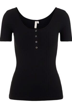 Musta ribattu t-paita - PCKITTE TOP