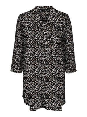 Leopardikuosinen pitkä paitapusero - VMSIMPLY EASY