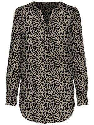 Leopardikuosinen pitkä paitapusero - VMSAGA TUNIC
