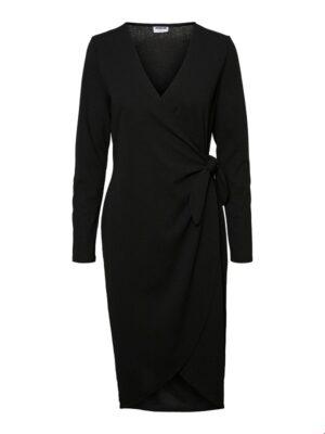 Musta kietaisumallinen mekko - NMLINE DRESS