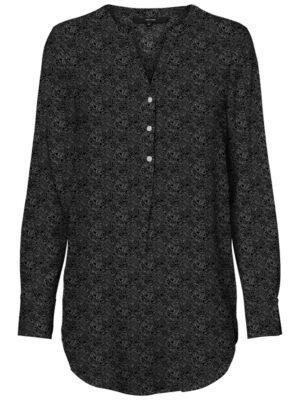 Musta kuviollinen pitkä paitapusero - VMSAGA TUNIC