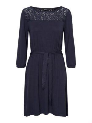 Sininen mekko pitsiyksityiskohdilla - VMJASMIN DRESS