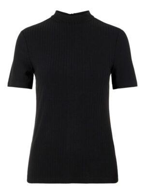 Musta poolokauluksinen t-paita - PCKYLIE - FUNDA