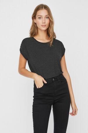 Musta raidallinen t-paita - VMAVA