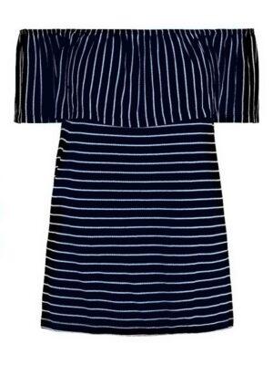 Sininen off shoulder -mallinen paita - PCARIEL