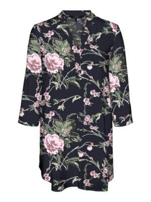 Kukkakuosinen pitkä paitapusero - VMSIMPLY EASY