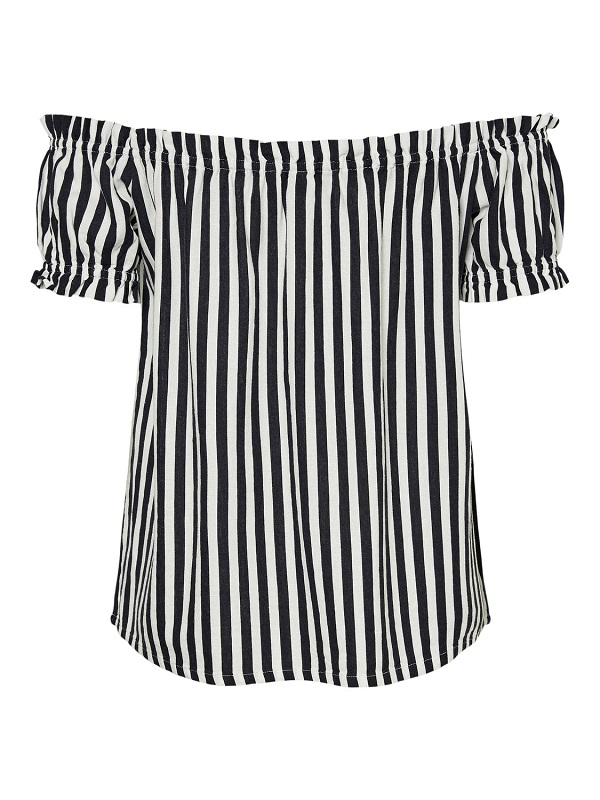 Raidallinen off shoulder -paita - VMHELENMILO