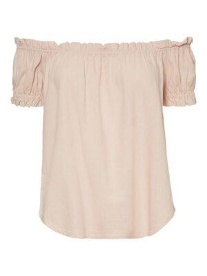 Vaaleanpunainen off shoulder -paita - VMHELENMILO