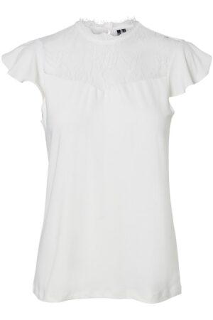 Valkoinen paita pitsillä - VMMILLA LACE TOP