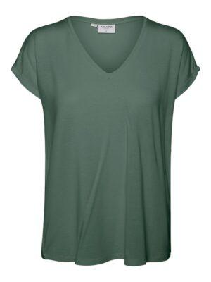 Vihreä V-kaula-aukollinen t-paita - VMAVA