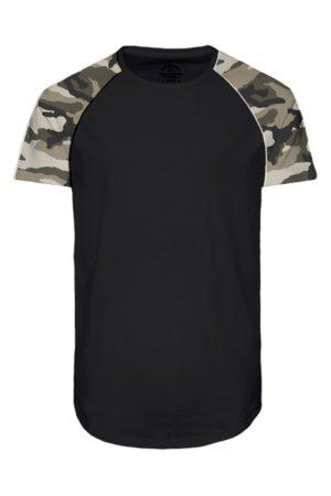 Musta t-paita armeijakuosilla - JORSWOOP TEE