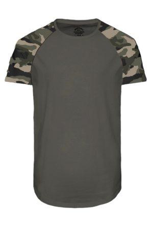 Vihreä t-paita armeijakuosilla - JORSWOOP TEE
