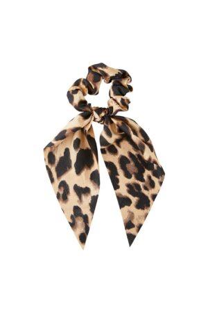 Leopardikuosinen hiusdonitsi rusetilla - PCMASCHA