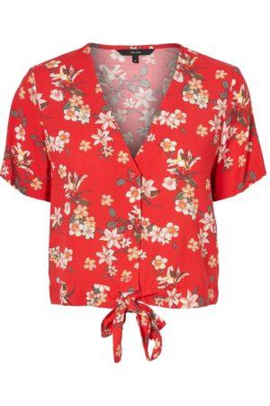 Punainen cropattu t-paita - VMSIMPLY EASY TIE TOP