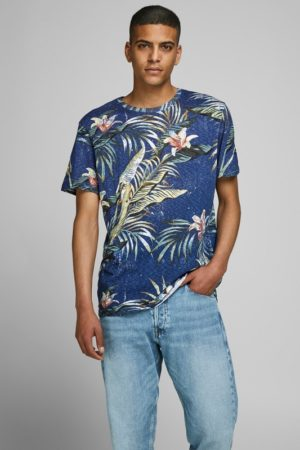 Sininen luomupuuvillainen t-paita - JORELI ORGANIC TEE