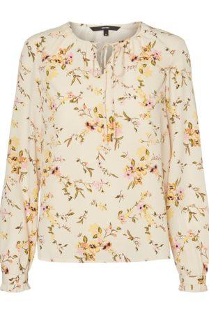 Valkoinen kukkakuviollinen pusero - VMKISSEY