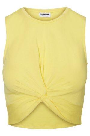 Keltainen cropattu toppi - NMTWIGGI TOP