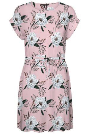 Kukkakuosinen vaaleanpunainen mekko - VMSIMPLY EASY
