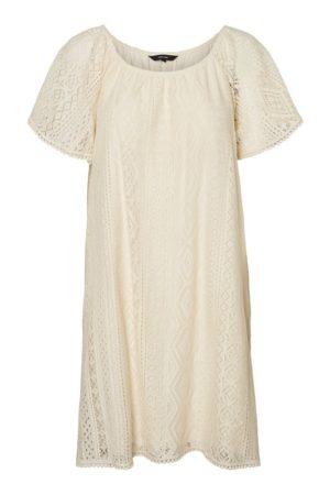 Luonnonvalkoinen pitsimekko - VMOLEA SHORT DRESS