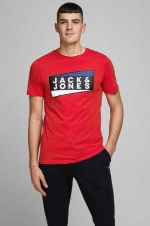 Punainen luomupuuvillainen t-paita - JCOSHAUN TEE