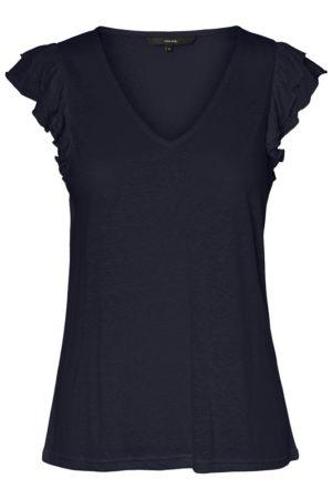 Tummansininen t-paita - VMOYELLA TOP
