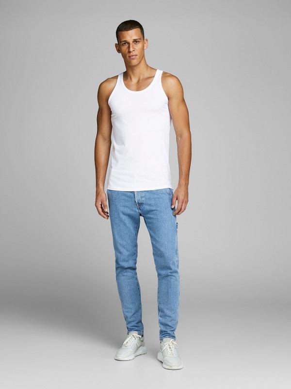 Valkoinen hihaton paita - JJEBASIC TANK TOP