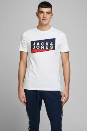 Valkoinen luomupuuvillainen t-paita - JCOSHAUN TEE