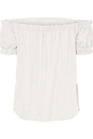 Valkoinen off shoulder -paita - VMHELENMILO