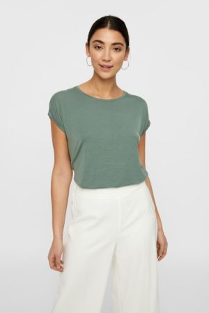 Vihreä rento t-paita - VMAVA PLAIN